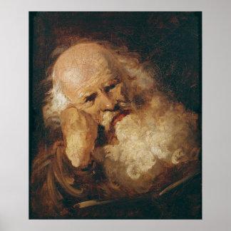 老人の頭部 ポスター
