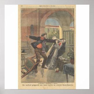 老人は女子修道院で若い初心者を刺します ポスター