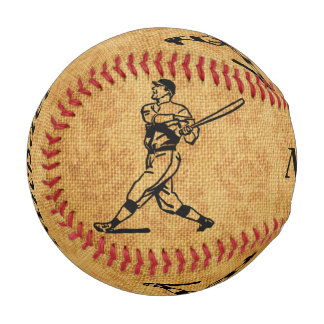 老化させたジュートの名前入りなヴィンテージの野球選手 野球ボール