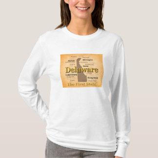 老化させたデラウェア州州のプライドの地図 Tシャツ