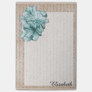 老化させた手紙の水の図解入りの、写真付きのな花は名前をカスタマイズ ポストイット