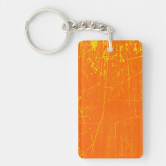 老化させ、擦り切れたな傷付くオレンジの質 キーホルダー