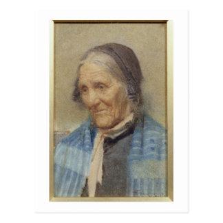 老女の勉強、1912年(w/c紙で) ポストカード