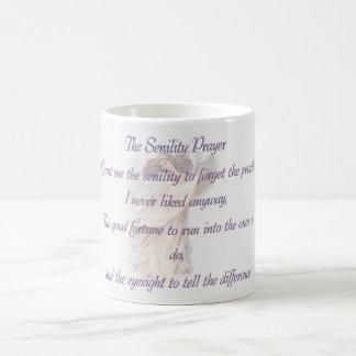 老衰の祈りの言葉のマグのバイオレット コーヒーマグカップ