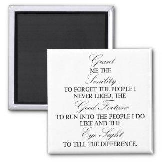 老衰の祈りの言葉の正方形の磁石 マグネット