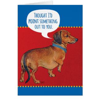 老齢期を指摘しているおもしろいなウインナー犬(ダックスフント) カード