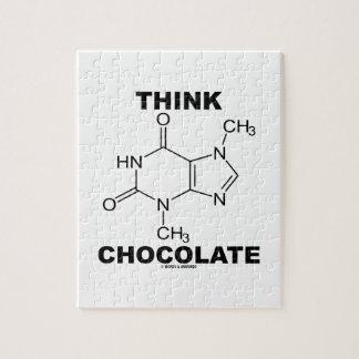 考えて下さいチョコレート(テオブロミンの分子化学)を ジグソーパズル