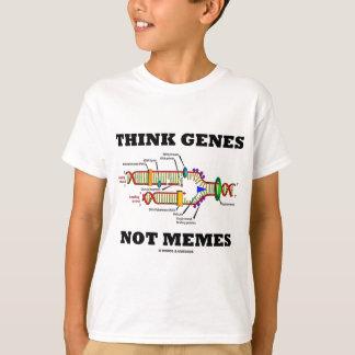 考えて下さい遺伝子のないミーム(DNAの写し)を Tシャツ