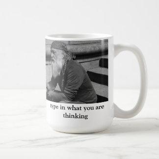 考えるであるものをタイプして下さい コーヒーマグカップ