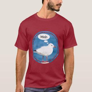考えるで白いカモメの港の青い海横浜Meh Tシャツ