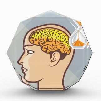 考えるなプロセス頭脳および砂の時計 表彰盾