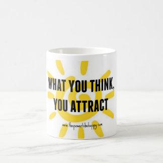 考える何を引き付けます コーヒーマグカップ
