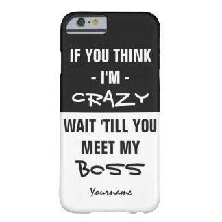 """""""考えれば私をあれば…"""" カスタムな文字のユーモアのケース BARELY THERE iPhone 6 ケース"""