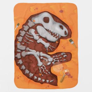 考古学の恐竜の骨の発掘 ベビー ブランケット