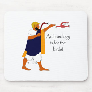 考古学は鳥のためです! マウスパッド
