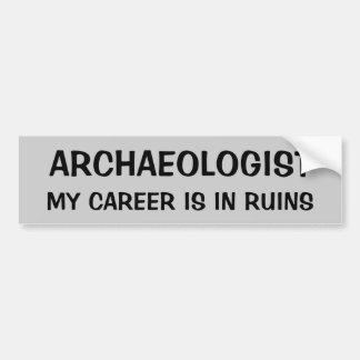 考古学者のしゃれ。 私のキャリアは台なしにあります バンパーステッカー