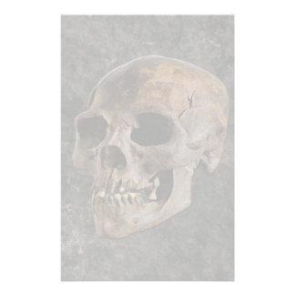 考古学II -石効果の背景のスカル 便箋