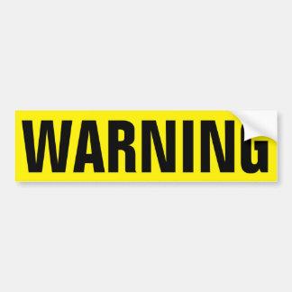 耐久のビニールのステッカーの黄色い警告標識 バンパーステッカー
