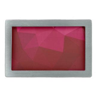 耐火れんがの赤の抽象芸術の低い多角形の背景 長方形ベルトバックル
