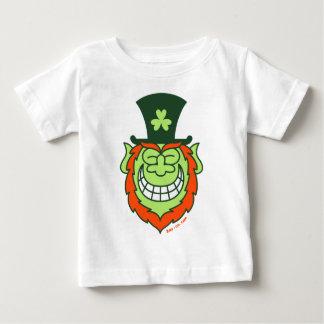耳から耳ににやにや笑っているStの水田の日の小妖精 ベビーTシャツ