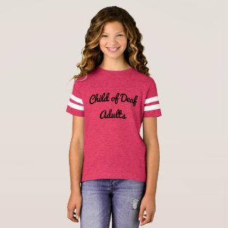耳が聞こえない大人の書道のプリントの子供 Tシャツ