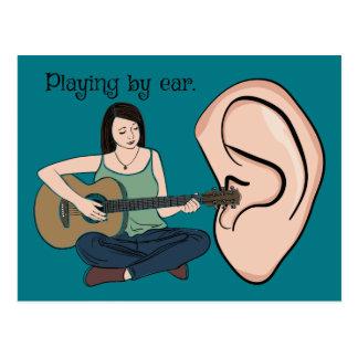 耳によって遊ぶこと ポストカード