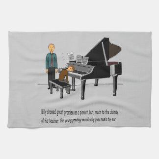 耳による音楽を遊ぶこと キッチンタオル