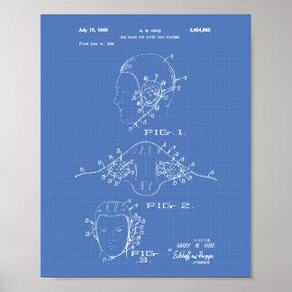 耳の監視水球1969のパテントの芸術の青写真 ポスター