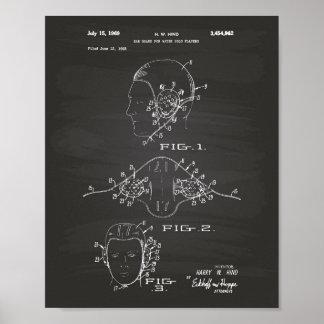 耳の監視水球1969のパテントの芸術の黒板 ポスター