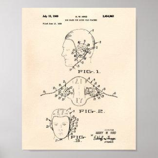 耳の監視水球1969のパテントの芸術古いPeper ポスター