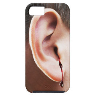 """""""耳まで""""そこのiPhone 5のVibeを包装します出血させます iPhone 5 カバー"""