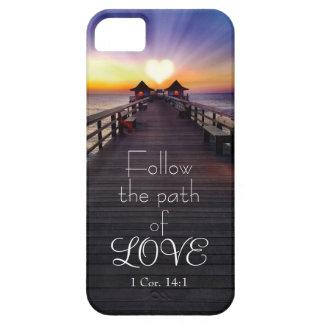 聖なる書物、経典の電話箱との愛の道を後を追って下さい iPhone SE/5/5s ケース