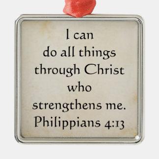 聖なる書物、経典のPhilippiansの4:13 メタルオーナメント