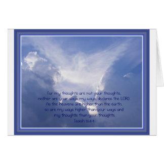 聖なる書物、経典、アイザイアの55:8,9は、私の方法より高いです カード