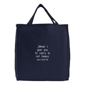 聖なる書物、経典embroyderedバッグ 刺繍入りトートバッグ
