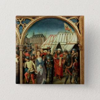聖ウルスラ1489年のReliquary 5.1cm 正方形バッジ