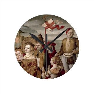 聖ウルスラ、c.1530 (パネルの油)の伝説 ラウンド壁時計