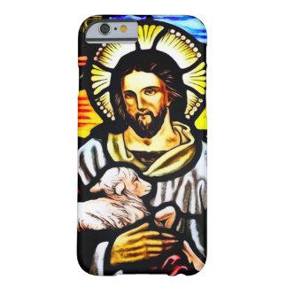 聖ヨハネのよい羊飼いのステンドグラスアールヌーボー BARELY THERE iPhone 6 ケース