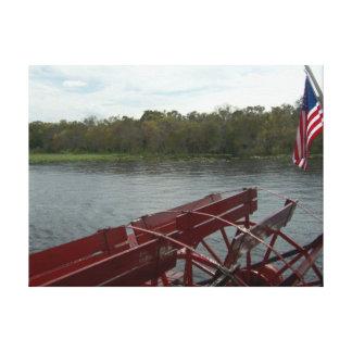 聖ヨハネの川、フロリダ2014年のPaddleboat キャンバスプリント