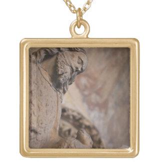 聖ヨハネの彫像バプテスト ゴールドプレートネックレス