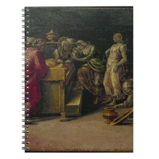 聖ヨハネの誕生バプテスト(パネルの油) ノートブック