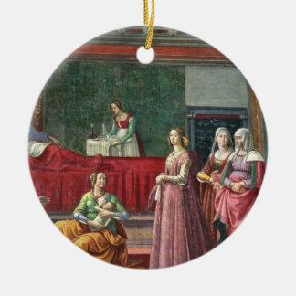 聖ヨハネの誕生バプテスト(フレスコ画) (Alを見て下さい セラミックオーナメント