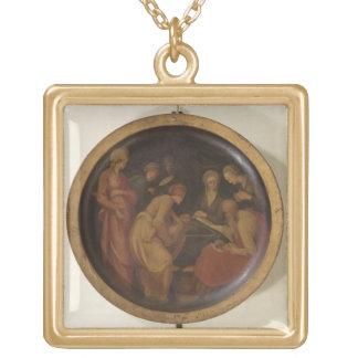 聖ヨハネの誕生バプテスト、c.1526 (油 ゴールドプレートネックレス