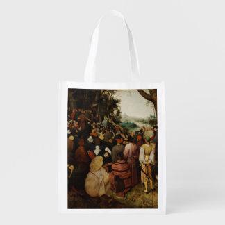 聖ヨハネの説教Pieter Bruegel著バプテスト エコバッグ