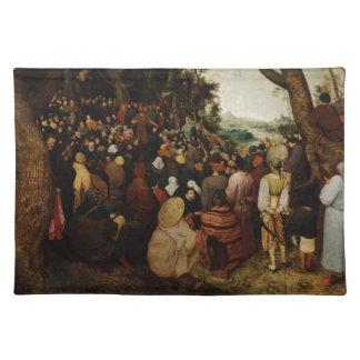 聖ヨハネの説教Pieter Bruegel著バプテスト ランチョンマット