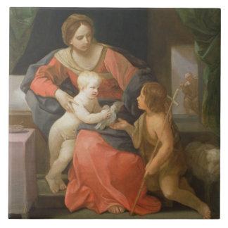 聖ヨハネを持つマドンナそして子供バプテスト タイル