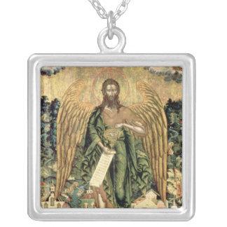 聖ヨハネバプテスト、荒野の天使 シルバープレートネックレス
