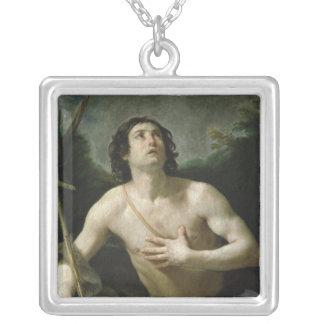 聖ヨハネバプテスト、c.1635-40 シルバープレートネックレス
