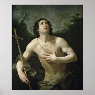 聖ヨハネバプテスト、c.1635-40 ポスター