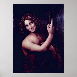 聖ヨハネレオナルド・ダ・ヴィンチ著バプテスト ポスター